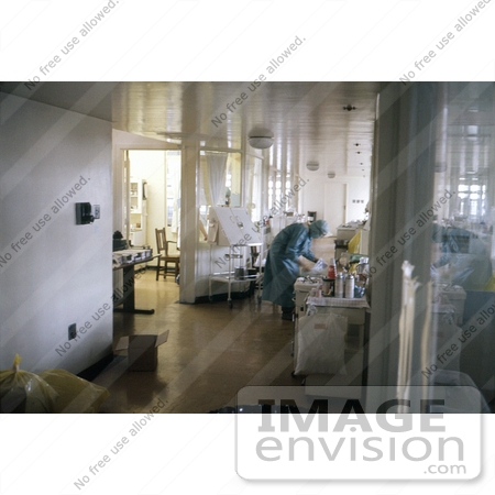 #6427 Picture of a Nurse In An Isolation Ward During The 1975 Marburg Outbreak In Johannesburg, South Africa by KAPD