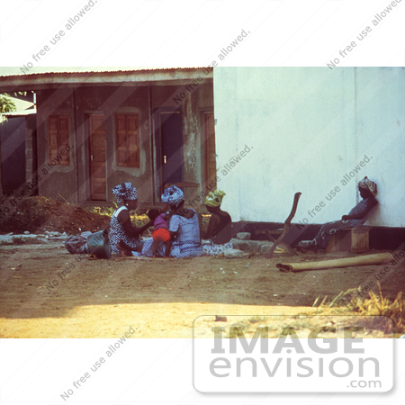 #6439 Picture of a Kenema, Sierra Leone Women Preparing a Meal by KAPD