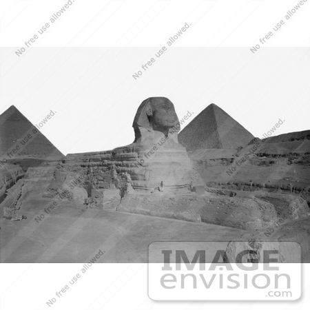#6497 Giza Sphinx and Pyramids by JVPD