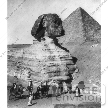 #6529 Partially Excavated Great Sphinx and Pyramids by JVPD