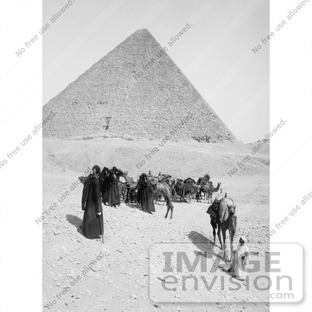 #6541 Caravan of Bedouins by the Egyptian Pyramids by JVPD