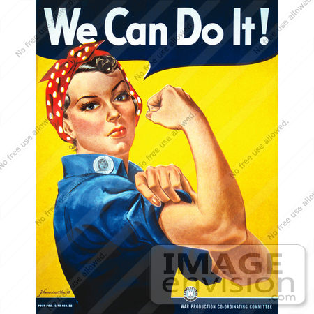 #6718 Stock Photo of We Can Do It! Rosie the Riveter by JVPD