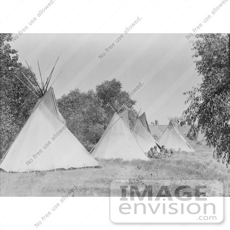 #6798 Canvas Tipis in Assiniboine Camp by JVPD
