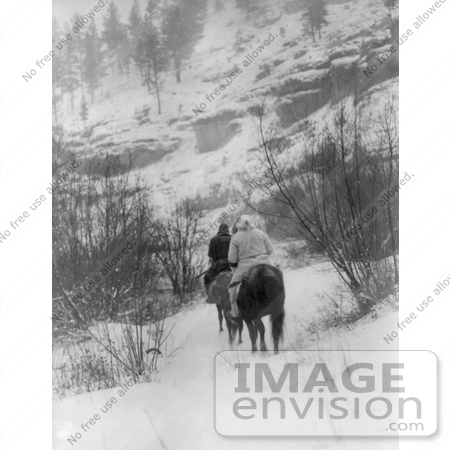 #6988 Apsaroke Men Hunting in Winter by JVPD