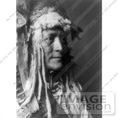 Stock Image of Hidatsa Indian Man by the Name of White Duck by JVPD