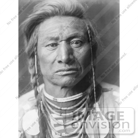 #7019 Stock Photography: a Crow Indian Man Called Chief Child by JVPD