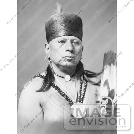 #7066 Stock Image of an Osage Native American Chief Called Bacon Rind by JVPD