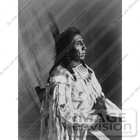 #7104 Stock Photography: Crow Indian Man by the Name of Medicine Crow by JVPD
