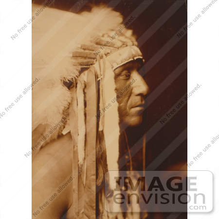 #7108 Stock Photography: Crow Indian Man, Pretty Paint by JVPD