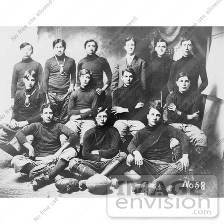 #7117 Stock Image of an Osage Indian School Football Team by JVPD