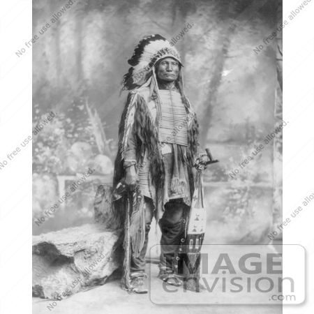 #7151 Stock Image: Sioux Indian Named Broken Arm by JVPD