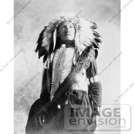 #7153 Stock Image: Sioux Indian Named Plenty Holes by JVPD