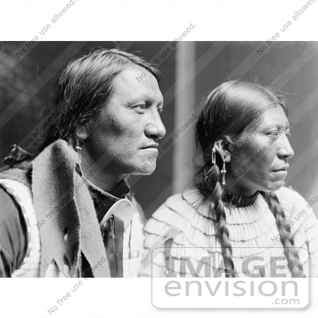 #7156 Stock Image: Charging Thunder With Wife, Sioux Indians by JVPD