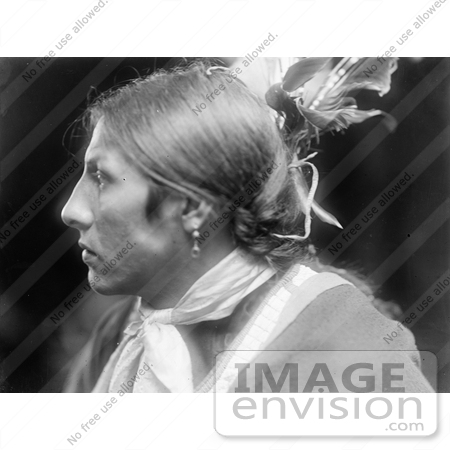 #7163 Stock Image: Amos Two Bulls, Sioux Native American Indian by JVPD