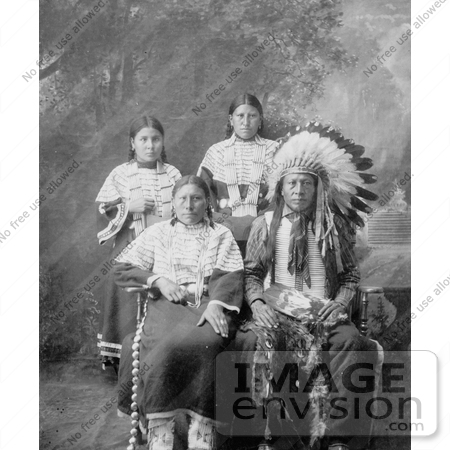 #7164 Stock Image: Sioux Family by JVPD