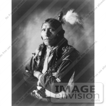 #7166 Stock Image: Sioux Indian Named Blue Horse by JVPD