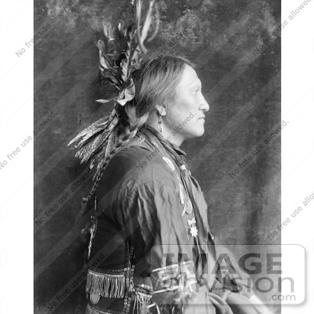 #7167 Stock Image: Charging Thunder, Sioux Indian Man by JVPD