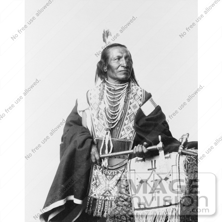 #7200 Stock Image: Chief Red Fox, Sioux Indian by JVPD