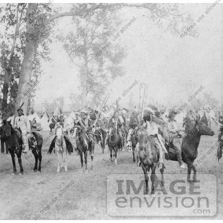 #7225 Stock Image: Sioux Indians on Horses by JVPD