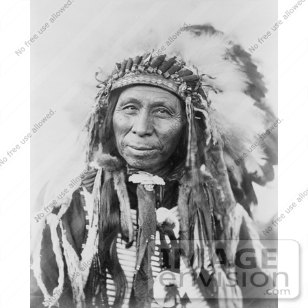 #7252 Stock Image: Sioux Indian, Black Thunder by JVPD