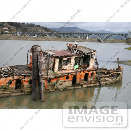 #727 Photograph of the Mary D Hume and the Patterson Bridge by Jamie Voetsch