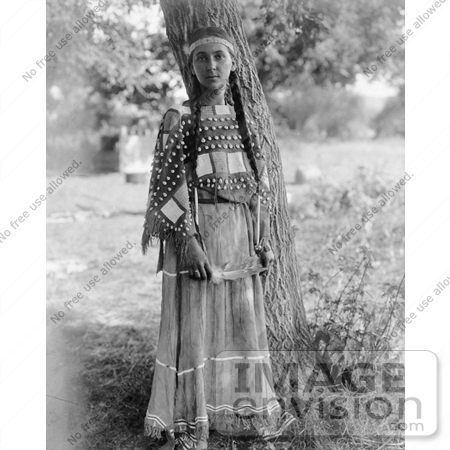 #7273 Stock Image: Sioux Woman by JVPD