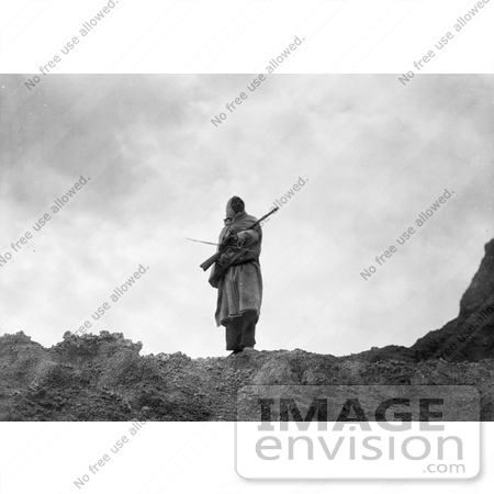 #7282 Stock Image: Sioux Man With Rifle and bow by JVPD
