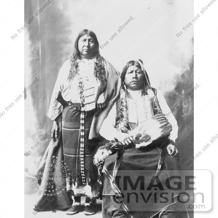 Stock Image of Tonkawa Indians, Grant Richards and Wife | #7290 by ...