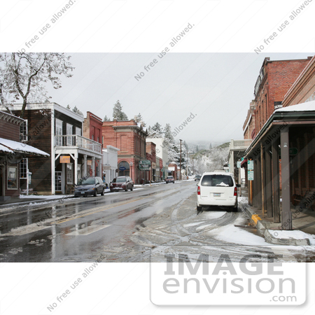 #731 Photograph of the Historic Town of Jacksonville, Oregon in Winter by Jamie Voetsch