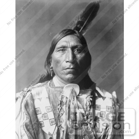 #7336 Stock Image: Little Hawk, a Brule American Indian by JVPD