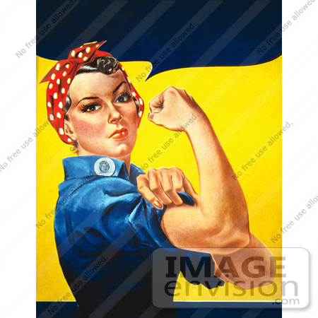 #7339 Stock Picture of Rosie the Riveter by JVPD