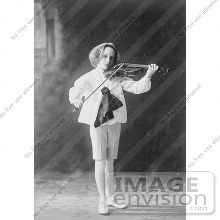 #7376 Stock Photograph of a Boy Playing a Violin by JVPD