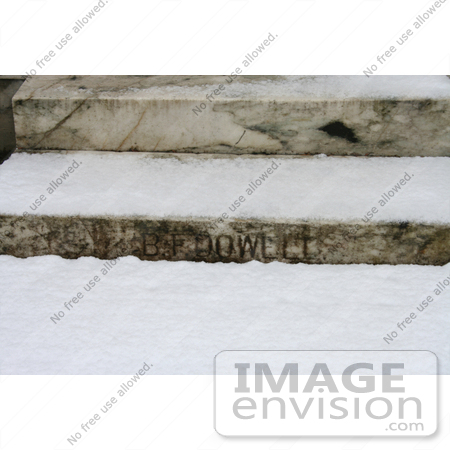 #742 Photograph of the Marble Steps at the BF Dowell House by Jamie Voetsch