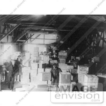 #7439 Stock Image of Confiscated Boxes of Alcohol in a Warehouse, Prohibition by JVPD