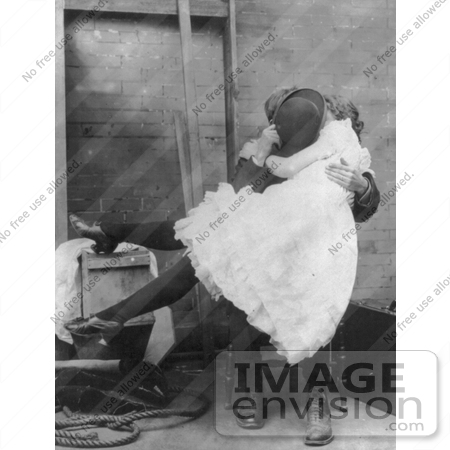 #7463 Stock Picture of a Woman and Man Kissing by JVPD