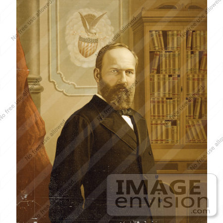 #7540 Picture of President Garfield by JVPD