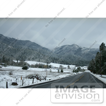 #759 Photograph of a Snowy Landscape, Ruch, Oregon by Jamie Voetsch