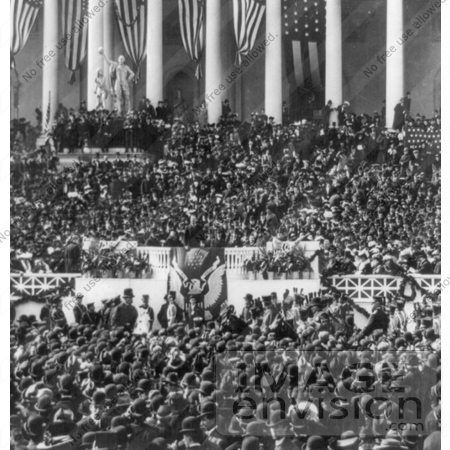 #7909 Picture of Roosevelt During Inaugural Address by JVPD