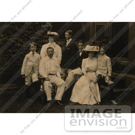 #7957 Picture of Edith Kermit Carow and Teddy Roosevelt With Children by JVPD
