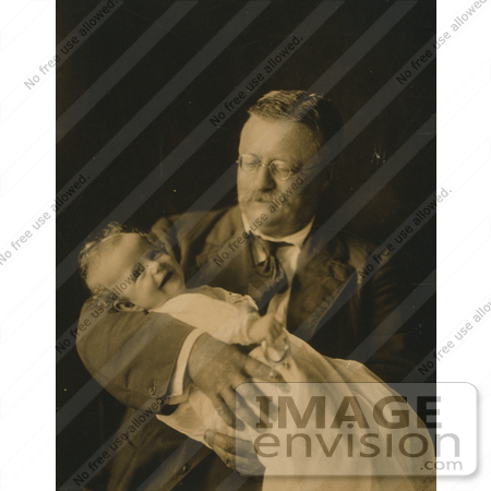#7966 Picture of Theodore Roosevelt Holding Kermit Roosevelt Jr by JVPD