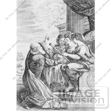 #8066 Picture of Galileo and Women With Telescope by JVPD