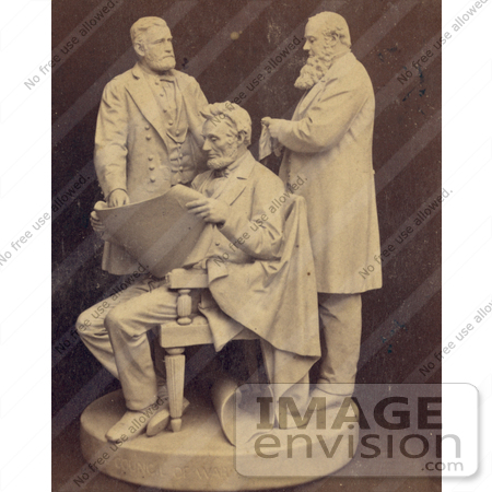 #8109 Picture of Abraham Lincoln, Ulysses S Grant, Edwin M Stanton by JVPD