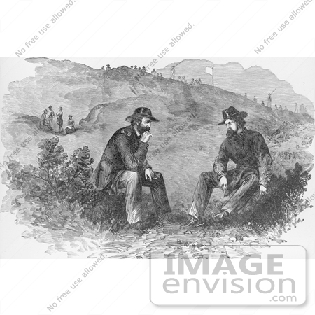 #8124 Picture of Ulysses S. Grant and John C. Pemberton by JVPD