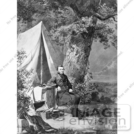 #8135 Picture of Ulysses S Grant in Camp by JVPD
