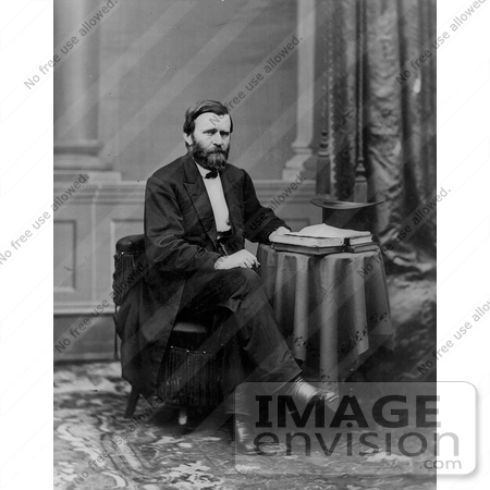 #8153 Picture of Ulysses S. Grant, 18th American President by JVPD