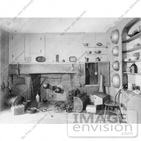 #8210 Picture of Colonial Era Fireplace by JVPD