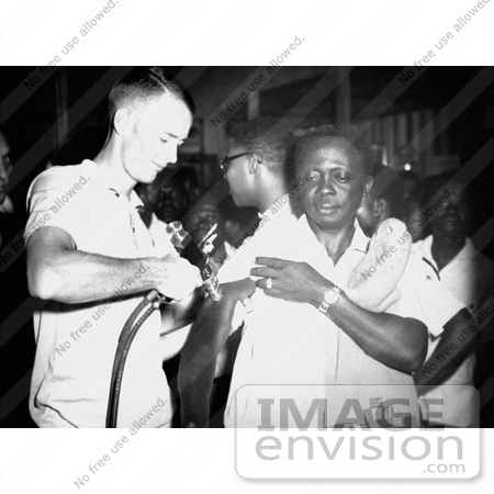 #8346 Picture of a Togo Man Getting a Smallpox Vaccination by KAPD