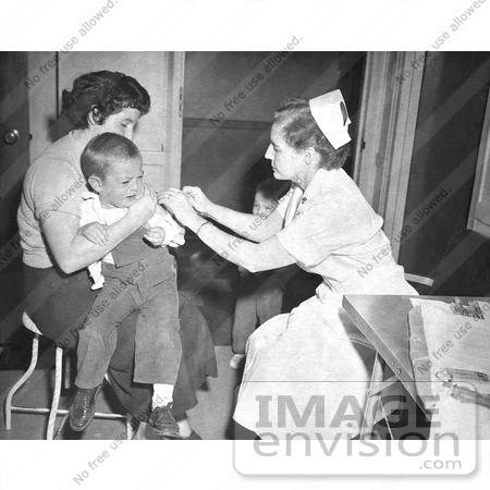 Picture Of Child Receiving A Smallpox Vaccine 1960 S