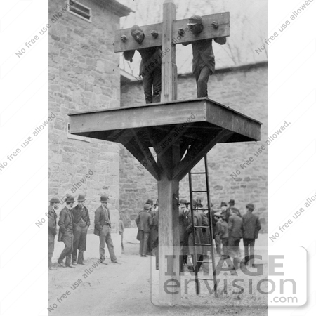 #8434 Picture of Men in a Pillory by JVPD