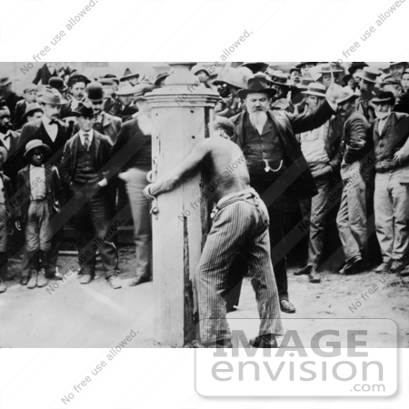 #8436 Picture of a Man Tied to a Whipping Post by JVPD
